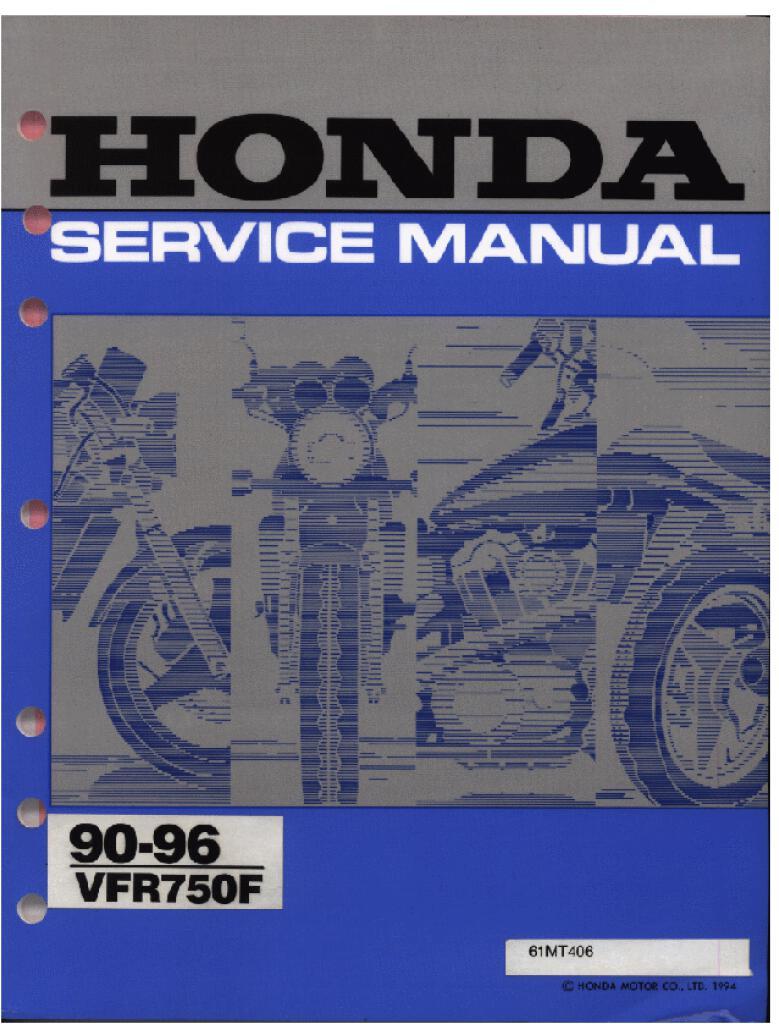 1990 1996 Dfmc Honda Vfr 750 F Service Manual Pdf  11 6 Mb